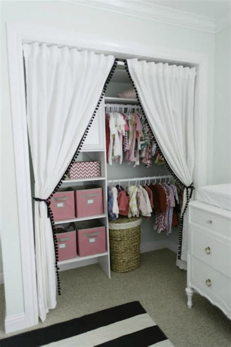 curtain instead of door 18 closet door makeovers that ll give you closet envy