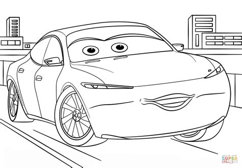 coloring pages cars 3 natalie certain from cars 3 from disney cars coloring page