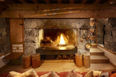 In Fireplace by Meribel Chalet Le Grand Palandger Photo Image Tour