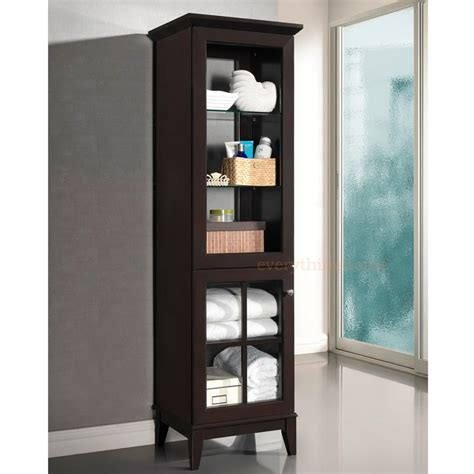 Modern Curio Cabinets by Modern Brown Storage Tower Curio Cabinet Glass