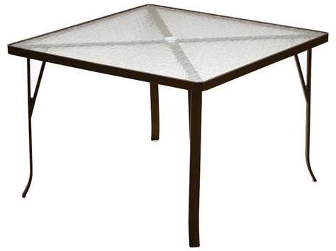 Tropitone Patio Table Tropitone Cast Aluminum 42 Square Dining Table 4243a