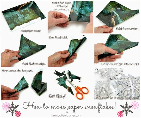How To Make Snowflakes Using Paper - the impatient crafter how to make paper snowflakes