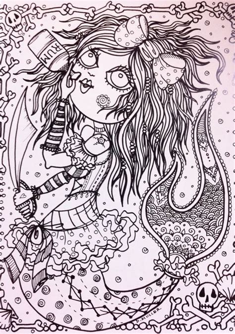 coloring pages for adults naughty naughty pirate mermaids coloring book for you to color