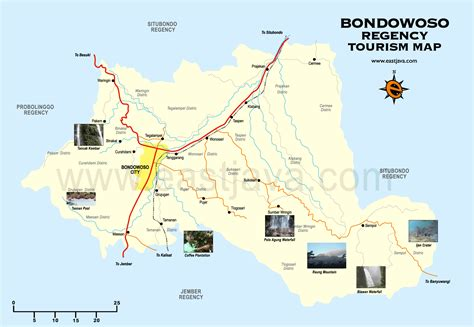 Bondowoso Map   Peta Bondowoso   Peta Kabupaten Bondowoso