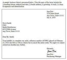 sle business letter with three signatures sle