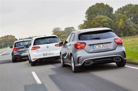 Bmw 1er Oder Golf 7 by Starke Kompakte Mercedes A Klasse Gegen Bmw 1er Und Vw