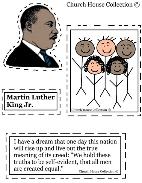 martin luther king jr craft cutout activity