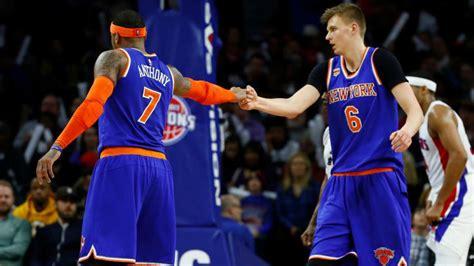 Calendario Knicks Nba Carmelo Y Porzingis Se Hartan De La Temporada De Los