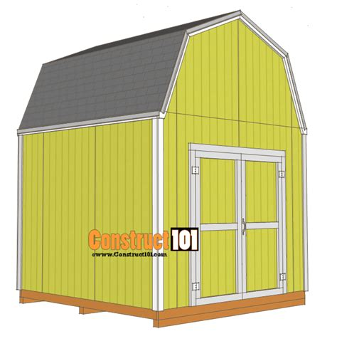 exterior gambrel roof shed plans free and gambrel roofing 10x10 shed plans gambrel shed construct101
