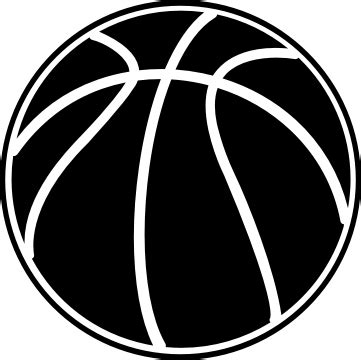 basketball clipart black and white basketball black clipart