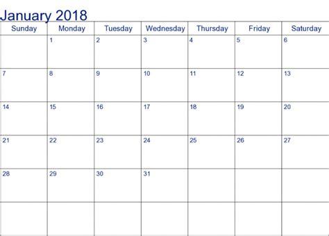 printable calendar 2018 microsoft january 2018 calendar word printable archives printable