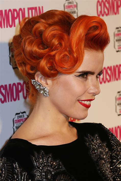 pin curl bobbed hairstyles an elaborate pin curled updo gave paloma a faux bob at the