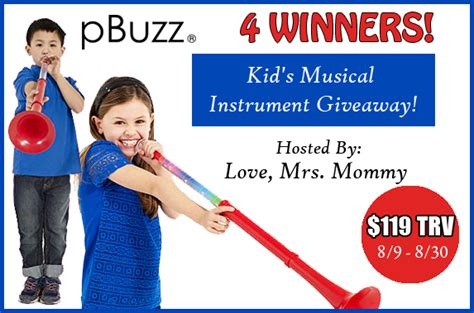 Instrument Giveaway - pbuzz kid s musical instrument giveaway 4 winners mom junky