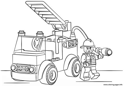 lego fire truck coloring pages printable