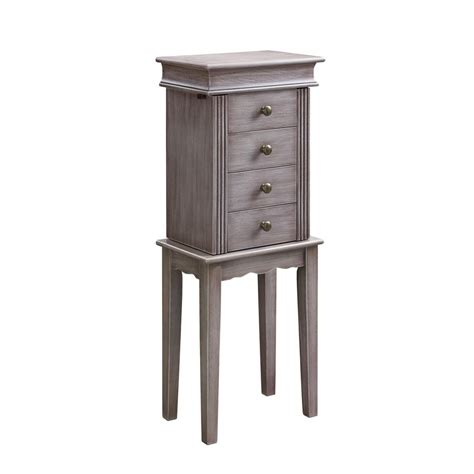 Home Decorators Jewelry Armoire by Home Decorators Collection Provence Wall Mount Jewelry Armoire With Mirror In Chestnut