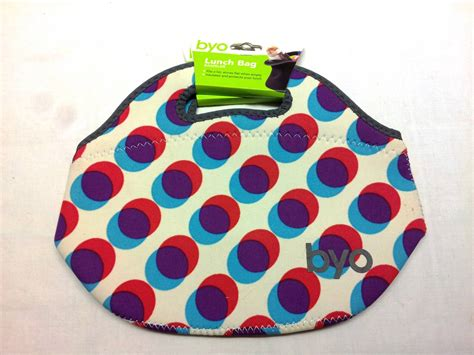 Byo Lunch Set 1 byo lunch bag insulated zippered rambler zing dash soft neoprene tote pink ebay