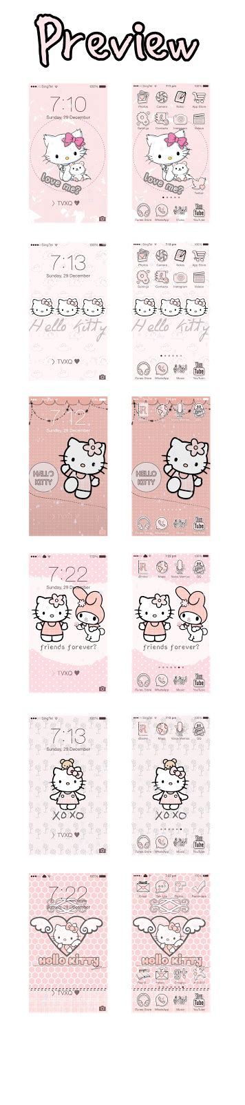 theme hello kitty cydia ios 7 hello kitty summerboard theme iphone images frompo 1