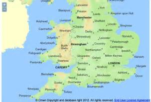 map of uk cities babaimage
