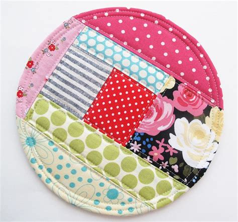 Patchwork Project Ideas - 2014 1 big patchwork coaster patchwork scrap and sewing