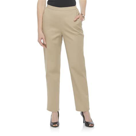 comfortable khaki pants laura scott women s comfort waist khaki pants