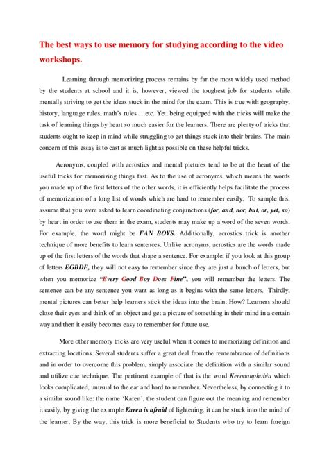 A Childhood Memory Essay by Essays On Memory Essays On Memory Dissertation Help Ireland Asia Childhood Memory Essay