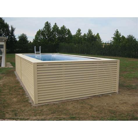 rivestimento in legno per piscine fuori terra piscina fuori terra su misura con rivestimento in legno