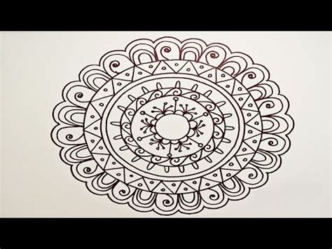 mandala pattern youtube drawing a easy fun mandala for beginners part 1