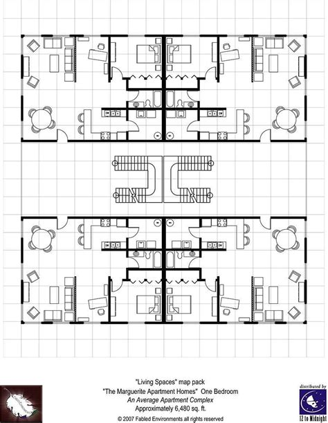 rpg floor plans modern floorplans apartment complex fabled environments