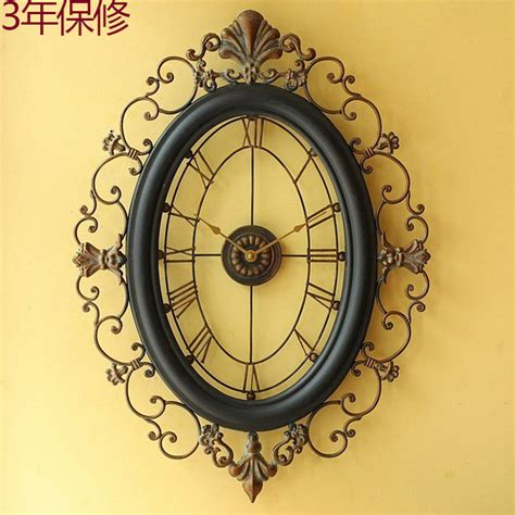 Large Living Room Wall Clocks Wall Clock Large Living Room European Style Wrought Iron