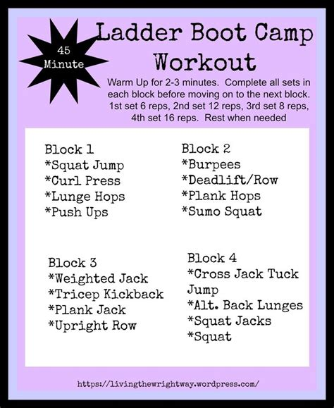boot c workout for ladder boot c workout workout exercises and boot c