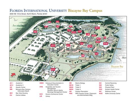 florida southern college map florida international at biscayne cus map