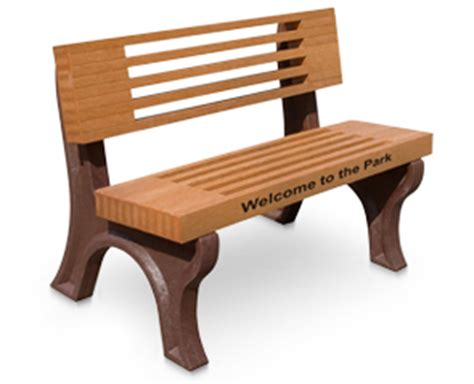 engraved park benches elite outdoor park bench recycled plastic belson outdoors 174