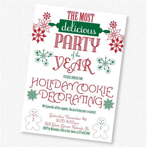 Christmas cookie decorating party invitation by idconsultdesign 13