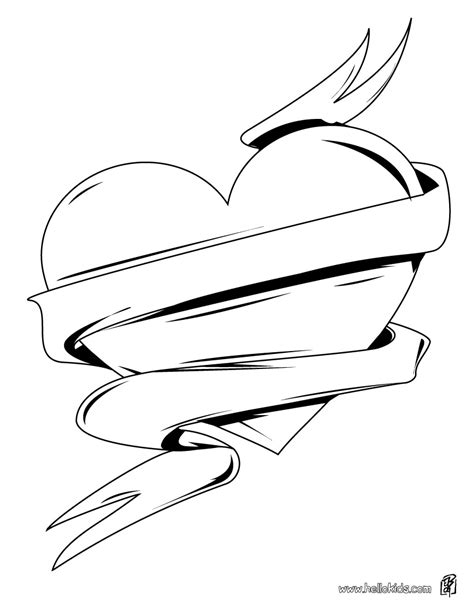 coloring pages heart with wings hearts with wings coloring pages only coloring pages