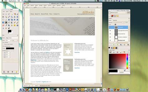 web layout gimp budget mac web design software image editors reality