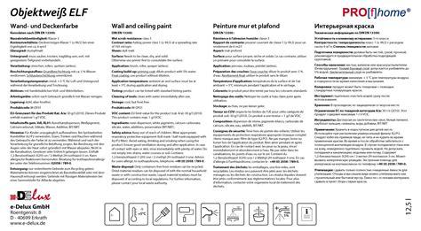 Gut Deckende Wandfarbe by Wandfarbe Profhome Objektwei 223 Innenfarbe Wei 223 12 5 Ltr