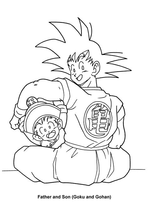 free coloring pages of drangon ball z kai
