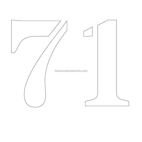 printable 12 inch number stencils free 12 inch 71 number stencil freenumberstencils com