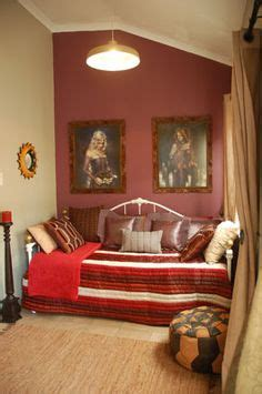 Bedroom With Maroon Accent Wall Photo Of Beige Maroon Plum White Bedroom With Feature