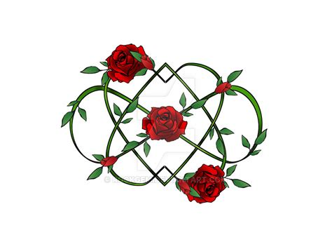 infinity hearts and roses by rockgem on deviantart