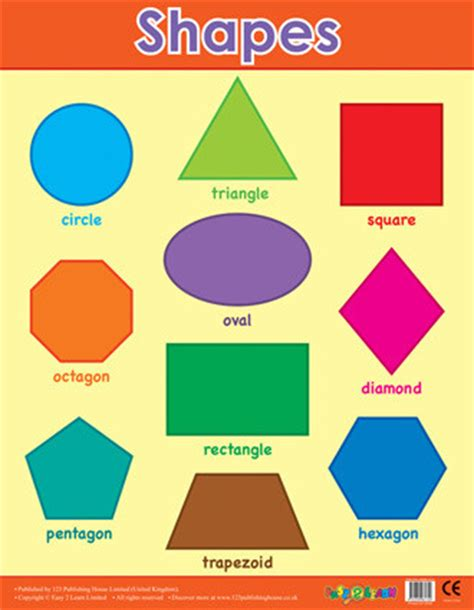 8 Shapes I by School Posters Basic Shapes Maths Posters Free Delivery
