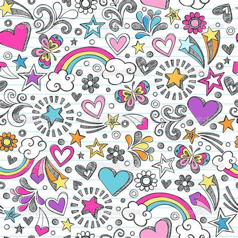 repeating pattern notebook depositphotos 11111006 seamless sketchy school doodles