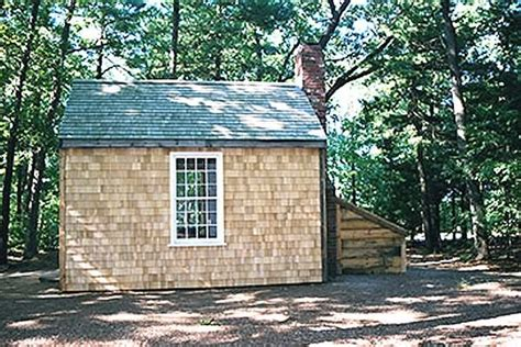 Walden Pond Cabin by Henry Thoreau S Cabin At Walden Pond 1845