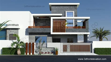3d front elevation 10 marla contemporary house design