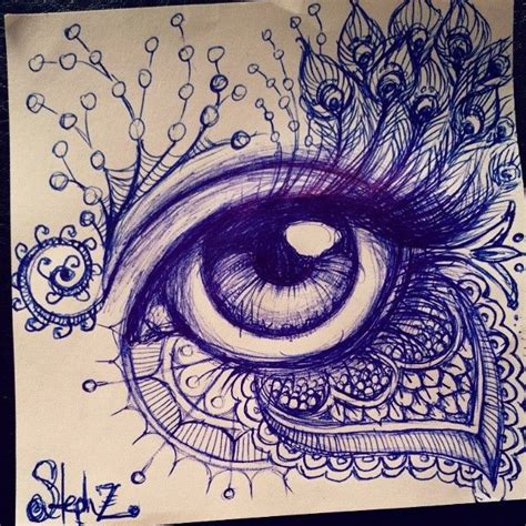 awesome pen doodles eye drawing with cool designs ballpoint pen doodles