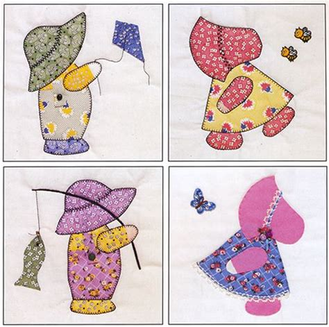 10 20 sunbonnet sue visits quilt in a day by eleanor