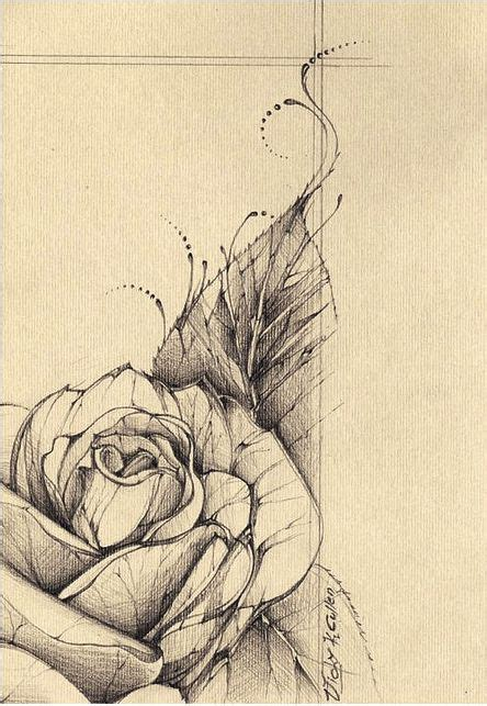 rose tattoo desing the 25 best flower sketches ideas on flower