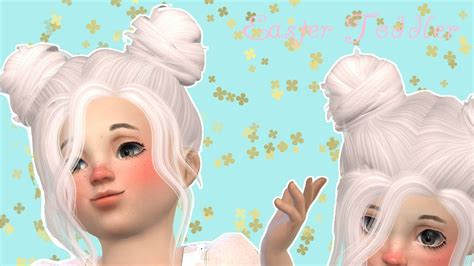 sims 4 toddler eyes cc sims 4 cas easter toddler cc list youtube