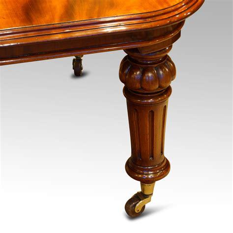 victorian mahogany  seat dining table hingstons