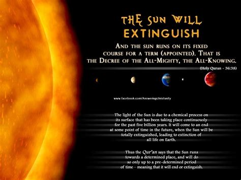 The Miracle Times The Sun Will Extinguish Miracles Of Quran Picture Islam World S Greatest Religion